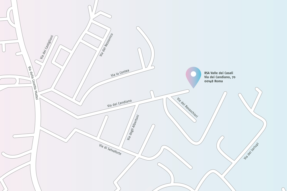 RSA Valle dei Casali, Mappa