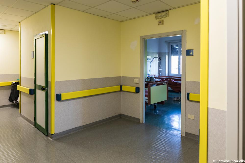 RSA Valle dei Casali, Struttura organizzativa, Struttura, Corridoio delle camera di degenza